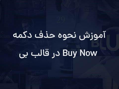 حذف دکمه Buy Now در قالب Be